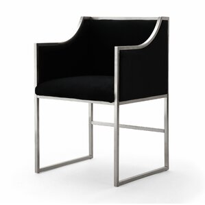 Juno Velvet Upholstered Dining Chair by Everly Quinn