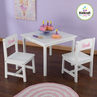 Personalized Aspen Kids\u0027 3 Piece Table and Chair Set & Dinosaur Table And Chairs   Wayfair