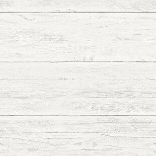 Barn wood wallpaper wayfair shiplap 18 x 205 wood wallpaper roll altavistaventures Image collections