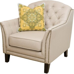 Alcott Hill Plumwood Tufted Fabric Armchair