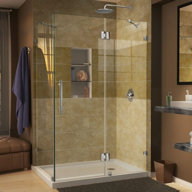 corner shower stall units. Quatra Lux 46 38  x 32 24 72 Rectangle Hinged Shower Enclosure Stalls Enclosures You ll Love Wayfair