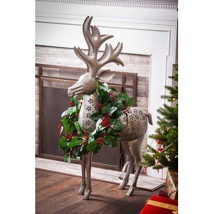 reindeer outdoor decor - Outdoor Wooden Reindeer Christmas Decorations