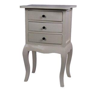 saffron 3 drawer nightstand