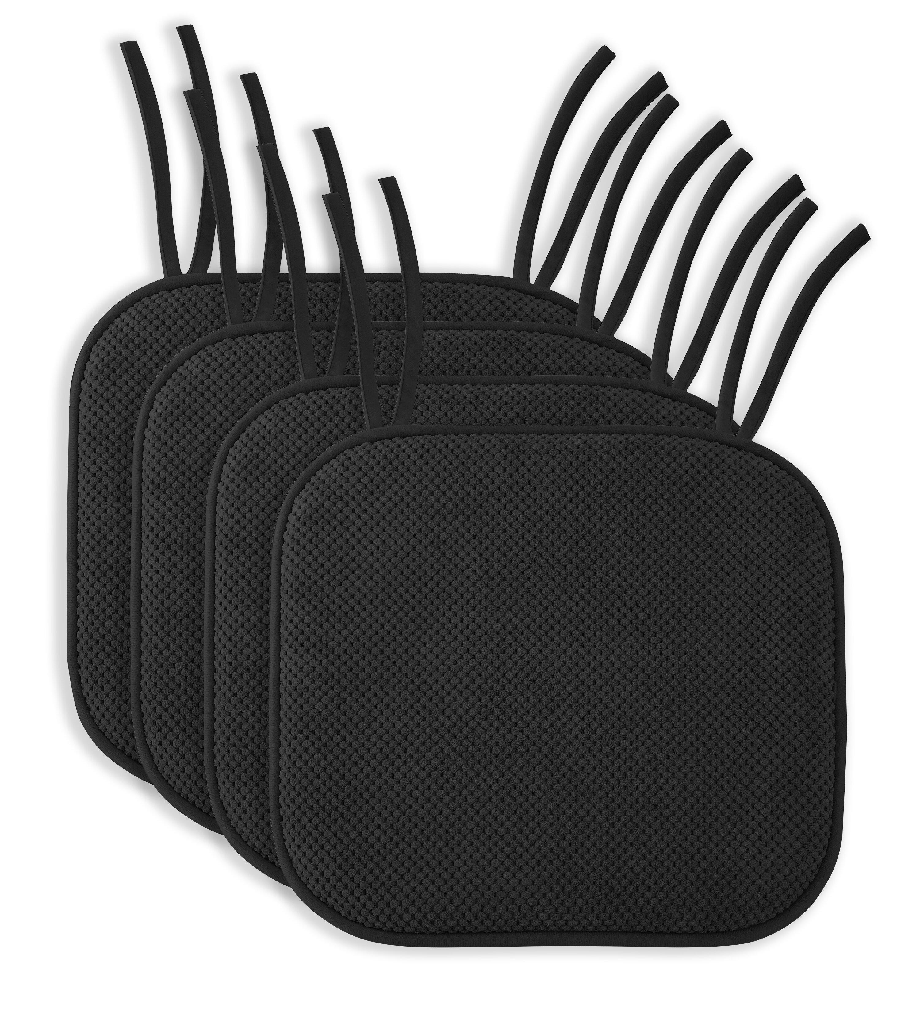 Symple Stuff Non Slip Memory Foam Indoor Dining Chair Cushion Reviews Wayfair