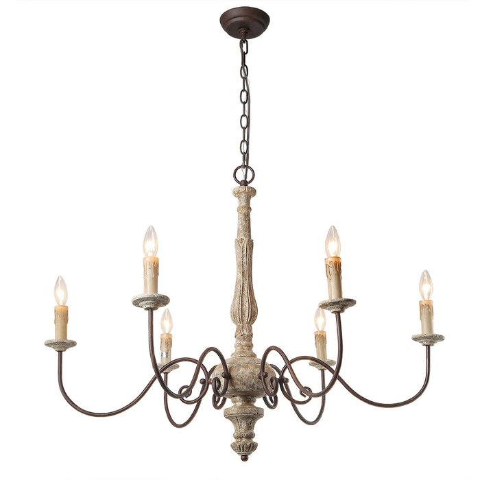 Leib elegance french country 6 light candle style chandelier leib elegance french country 6 light candle style chandelier aloadofball Gallery