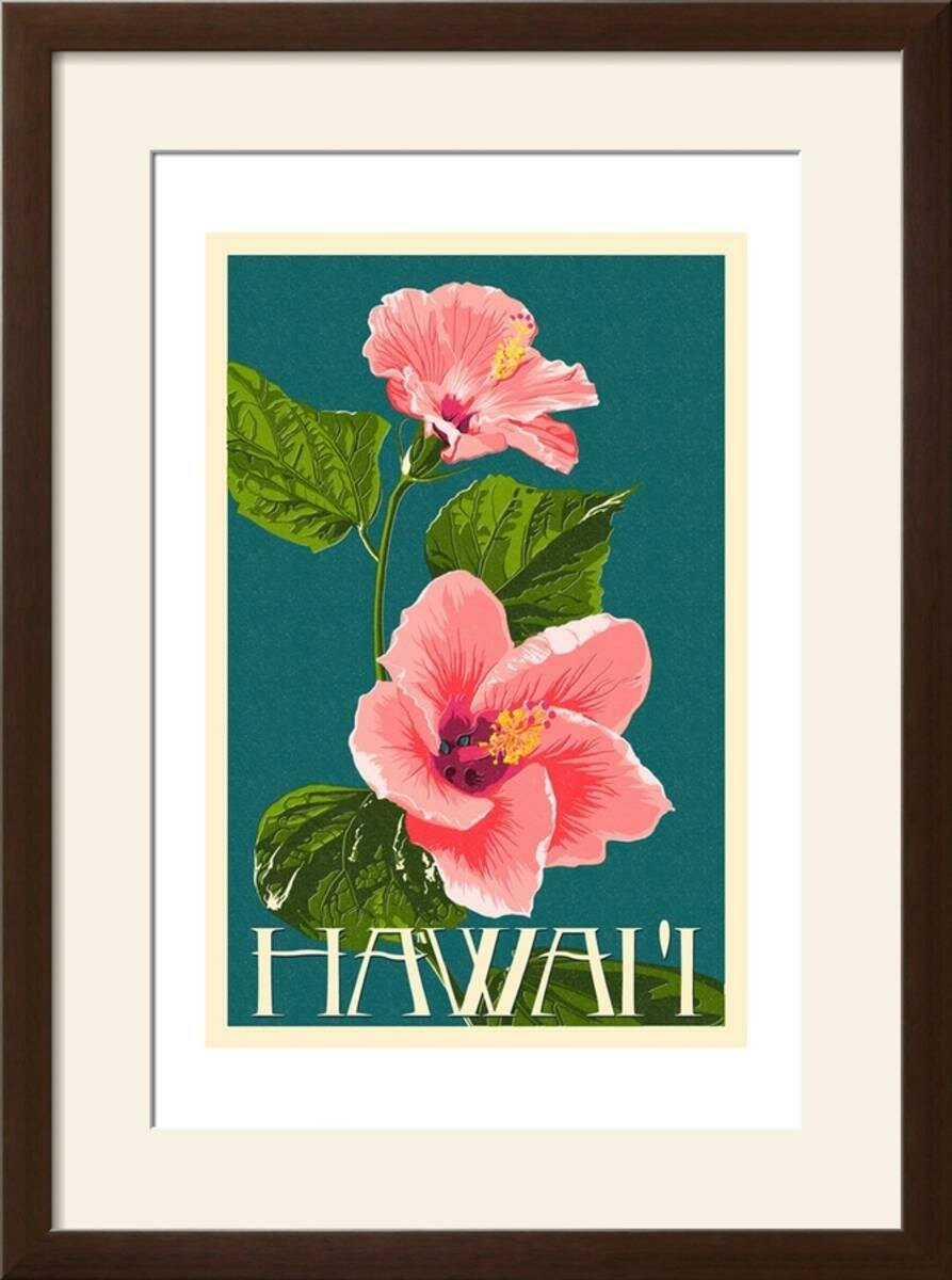 Bay Isle Home Hawaii Pink Hibiscus Flower Framed Graphic Art