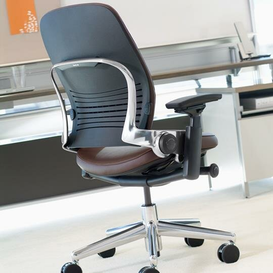 leap high back leather desk chair - Steelcase Leap Chair