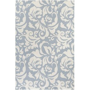 Annette Adeline Light Blue/Ivory Area Rug