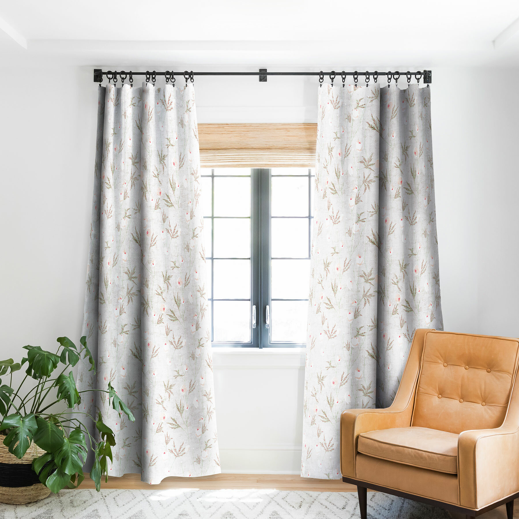 East Urban Home Holli Zollinger French Linen Anemone Light Blackout Pinch Pleat Single Curtain Panel Wayfair