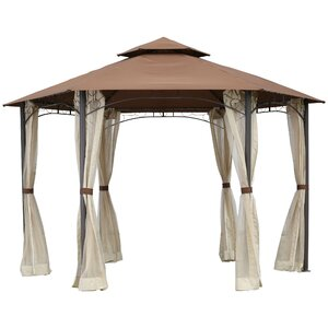11 Ft. W x 10 Ft. D Metal Permanent Gazebo