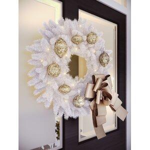Pre-Lit Crystal Wreath