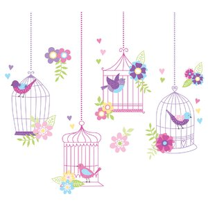 Chirping The Day Away Kids Wall Sticker Kit