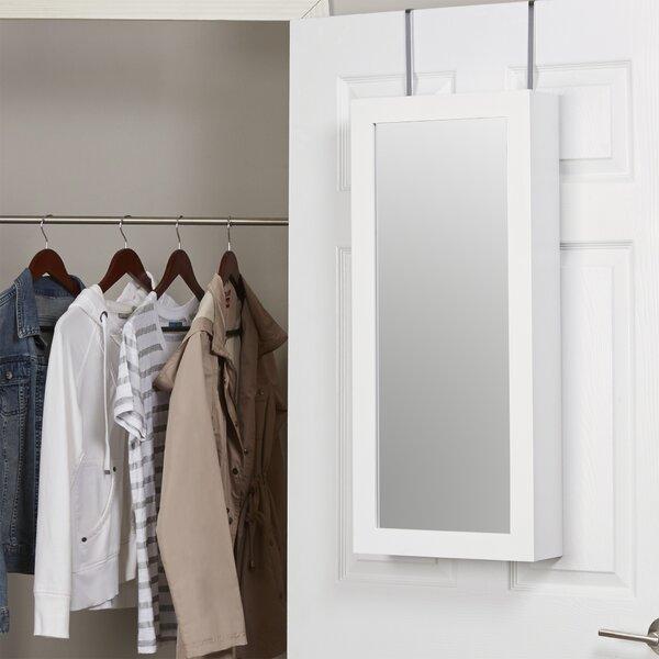 Zipcode Design Kristen Jewelry And Makeup Cabinet Over The Door Jewelry  Armoire With Mirror U0026 Reviews   Wayfair