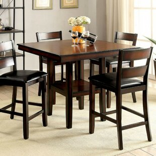 RJ 5 Piece Counter Height Solid Wood Dining Set Best Choices