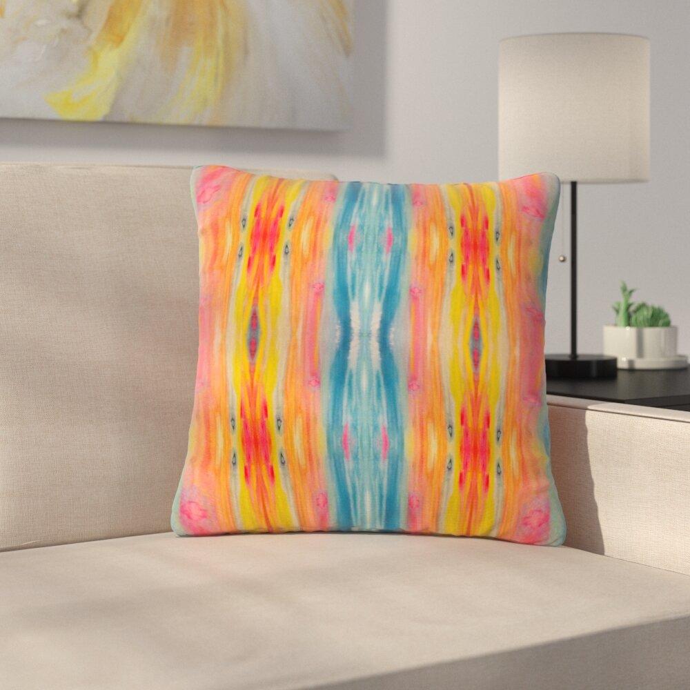 East Urban Home Nika Martinez Boho Tie Dye Outdoor Throw Pillow Wayfair