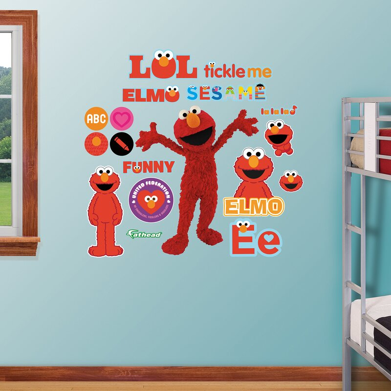High Quality RealBig Sesame Street, Elmo Wall Decal Part 11