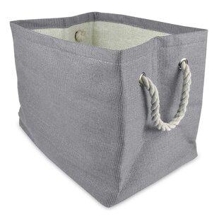 Gray Woven Paper Bin