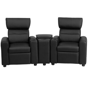 Kids Leather Recliner with Storage Compartment and Cup Holder by Flash Furniture