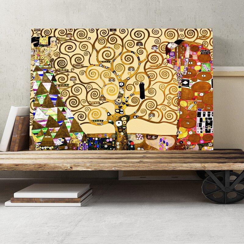 Big Box Art \'The Tree of Life\' by Gustav Klimt Painting Print on ...
