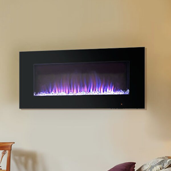 Pacific Heat Streamline Flat Wall Mount Electric Fireplace
