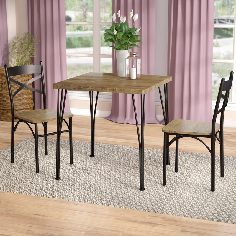 Laurel Foundry Modern Farmhouse Guertin 3 Piece Dining Set & Reviews ...