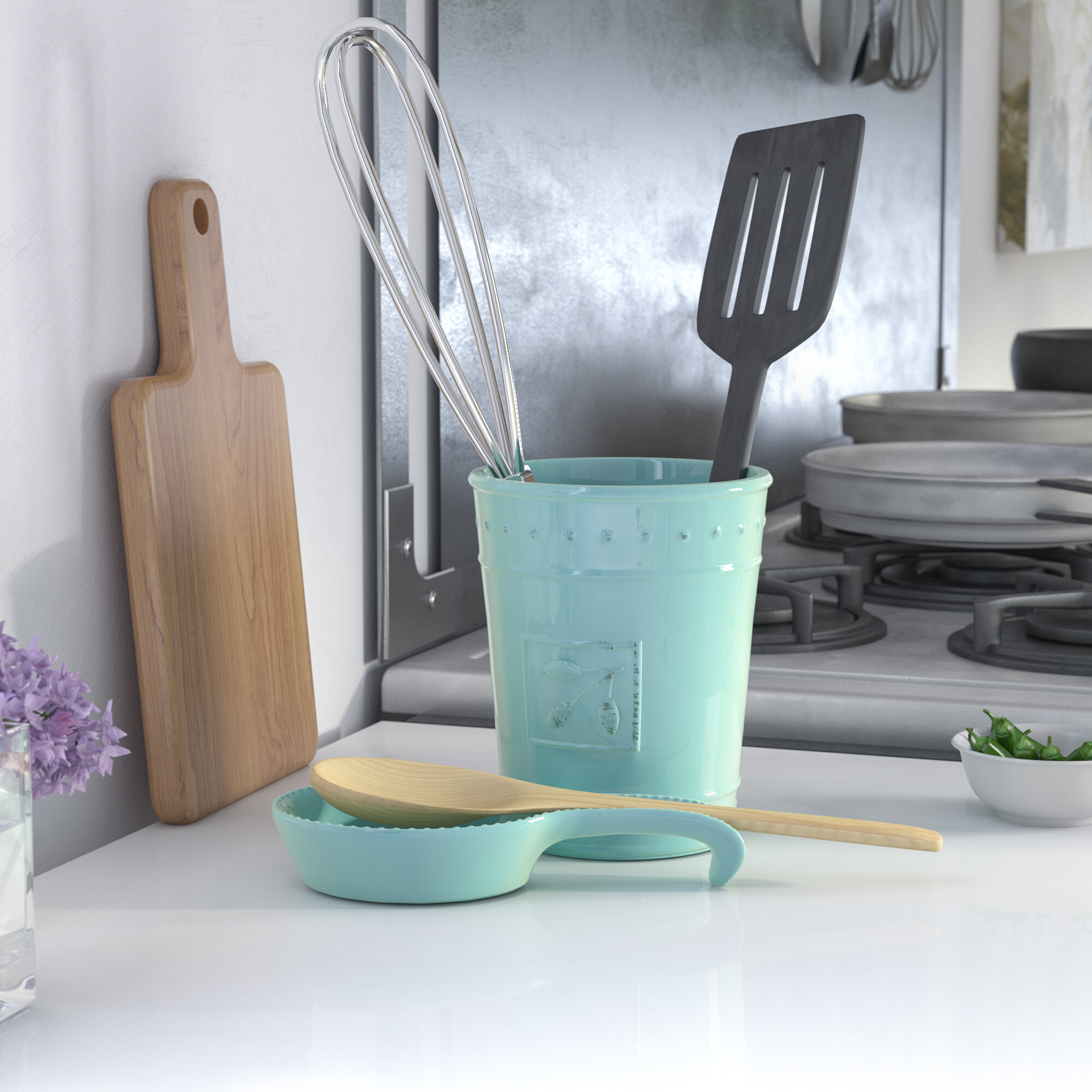 Lark Manor Spoon Rest and Utensil Crock & Reviews | Wayfair