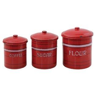3 Piece Flour, Sugar U0026 Coffee Set