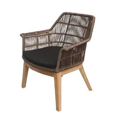 Wondrous Skagen Stacking Teak Patio Dining Chair With Cushion Download Free Architecture Designs Intelgarnamadebymaigaardcom