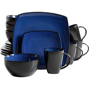 Save  sc 1 st  Wayfair & Blue Dinnerware Sets You\u0027ll Love | Wayfair