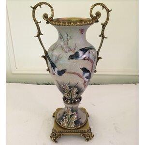Antique Bronze Porcelain Table Vase