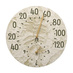 sumac indooroutdoor wall clock and thermometer - Outdoor Clock Thermometer