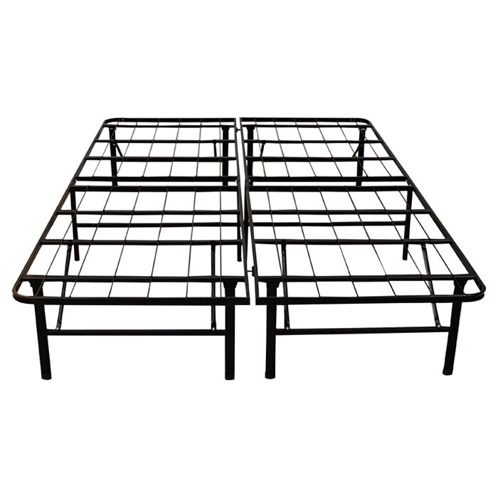"Metal Bed Frames alwyn home 14"" platform heavy duty metal bed frame & reviews 