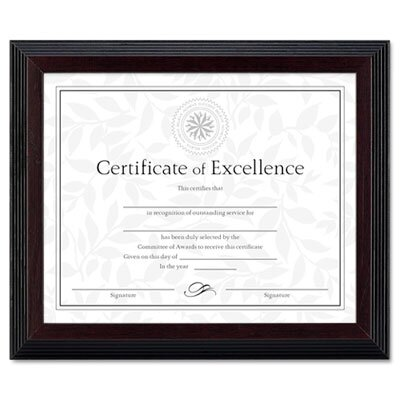 DAX MANUFACTURING INC. Solid Wood Award/Certificate Frame, 8\