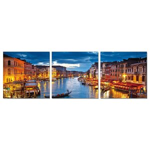 Cao Wall Mounted Triptych 3 Piece Photographic Print Set