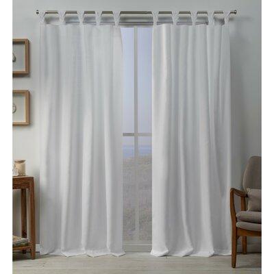 Heil Solid Color Room Darkening Tab Top Curtain Panels