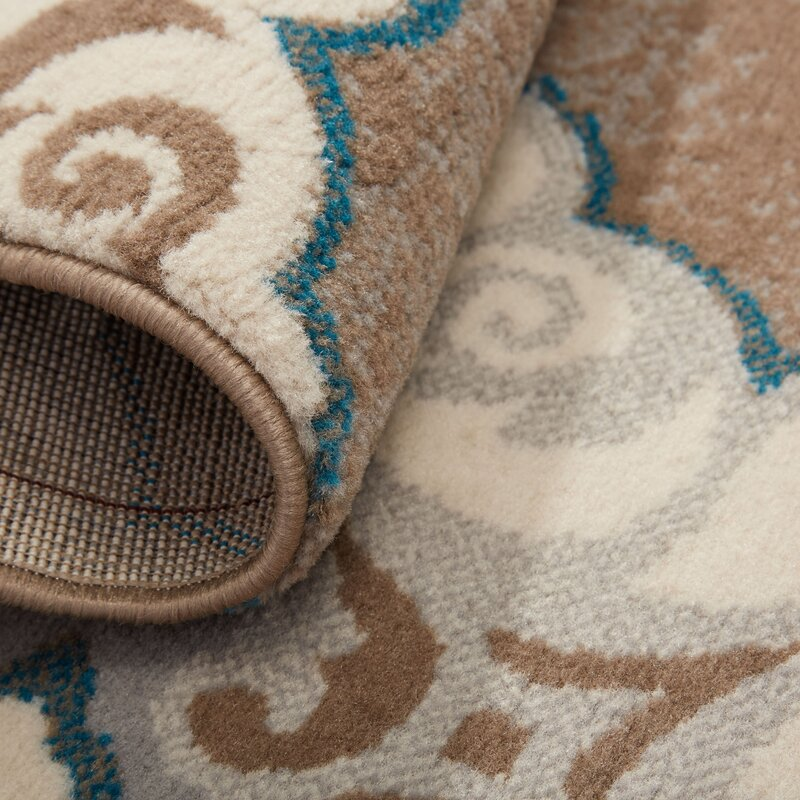 Natural Cerulean Blue Taupe Area Rug Amp Reviews Birch Lane