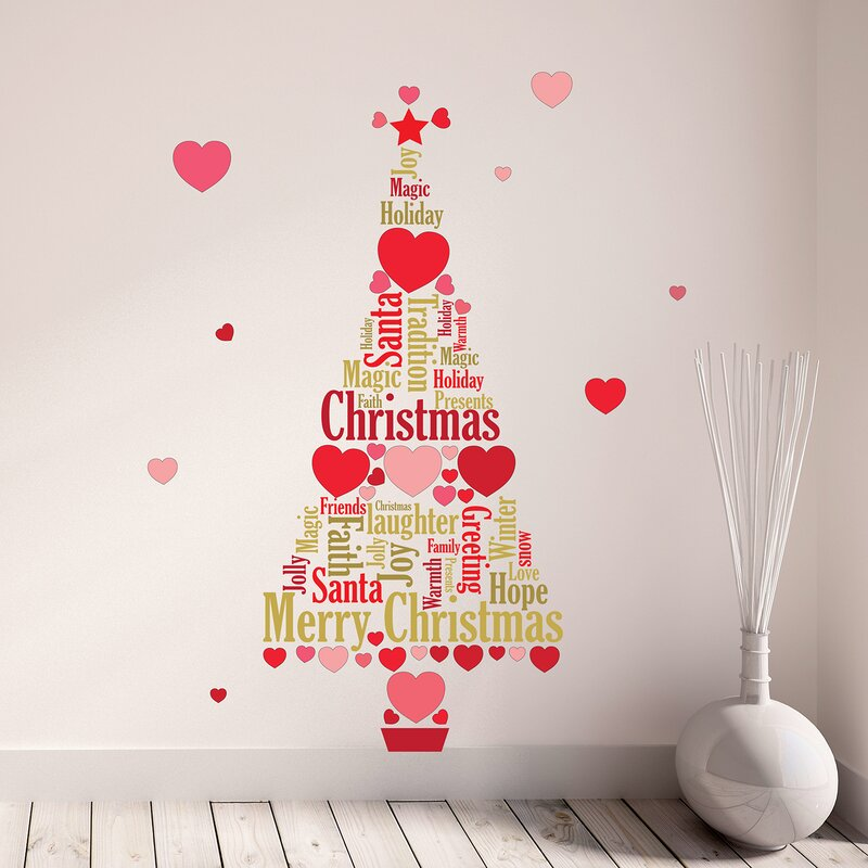 love christmas and english quotes wall decal