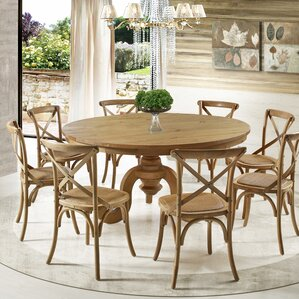 Round Dining Room Table For 8 8 + seat round kitchen & dining tables you'll love | wayfair