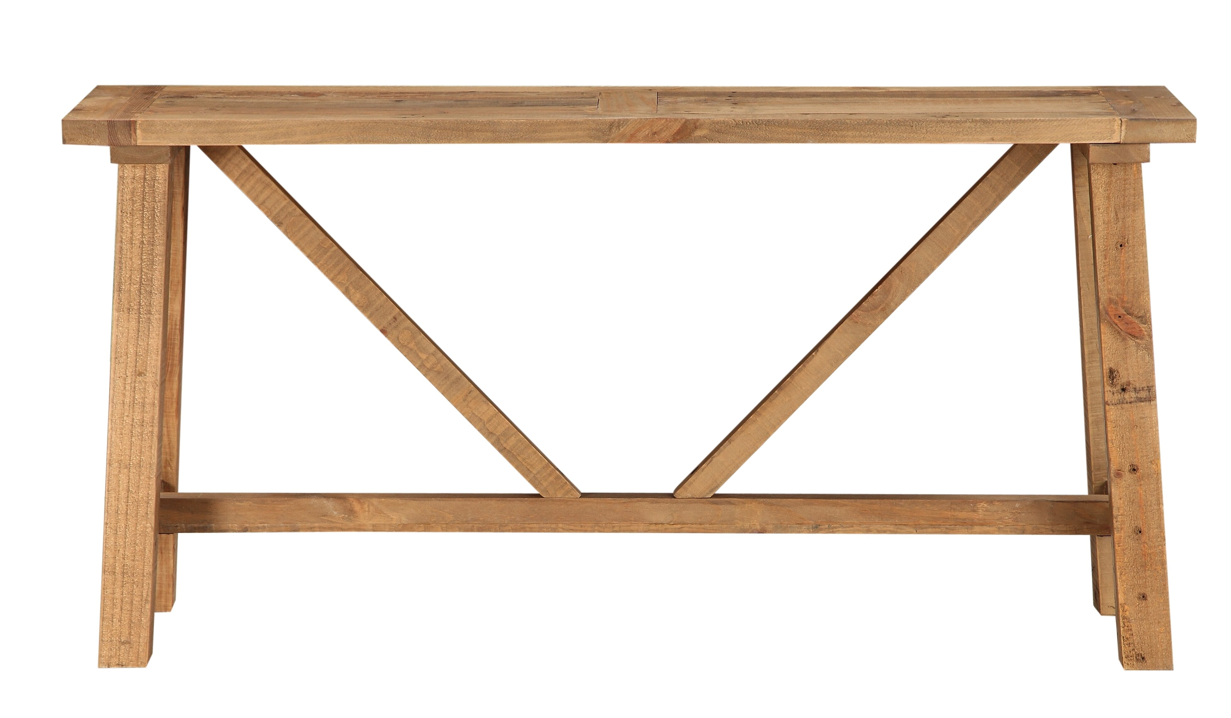 Millwood Pines Stambaugh Reclaimed Wood Console Table | Wayfair