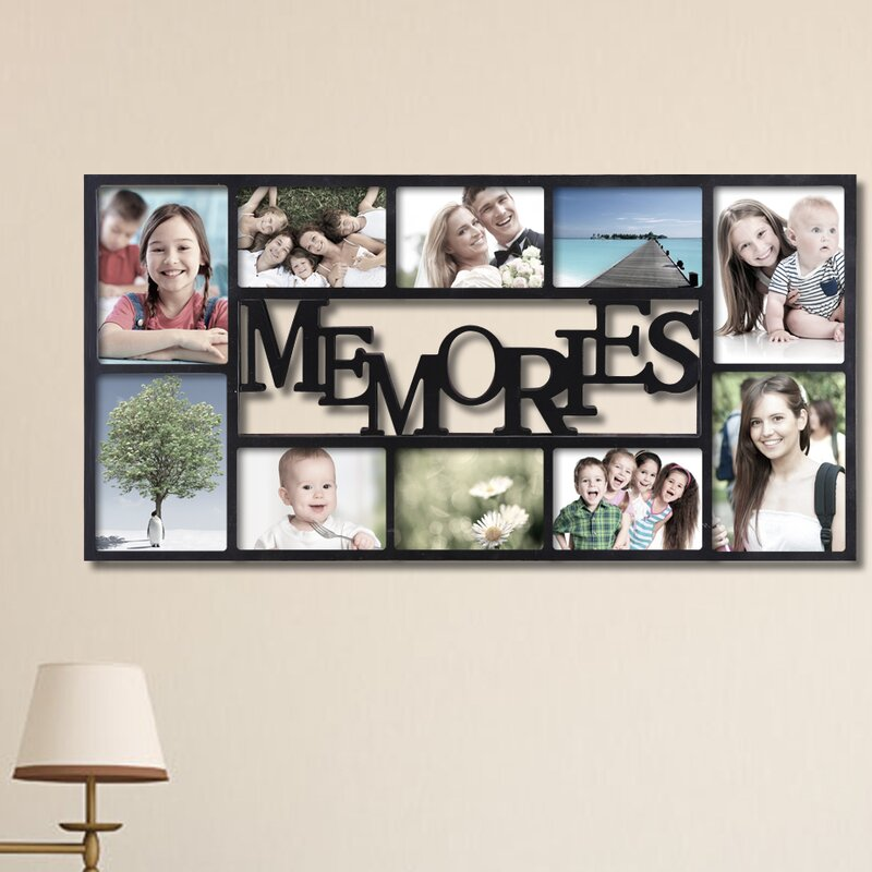 10 Opening Decorative Memories Wall Hanging Collage Picture Frame