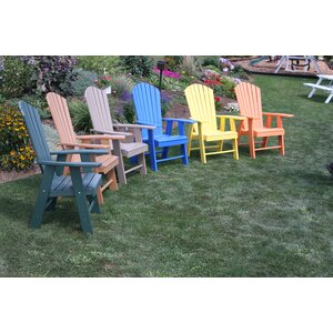 Upright Plastic Adirondack Chair