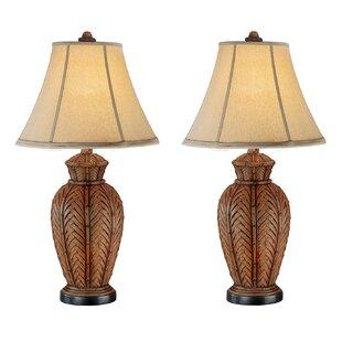 Andromeda Wicker 24 Table Lamp Set Of 2