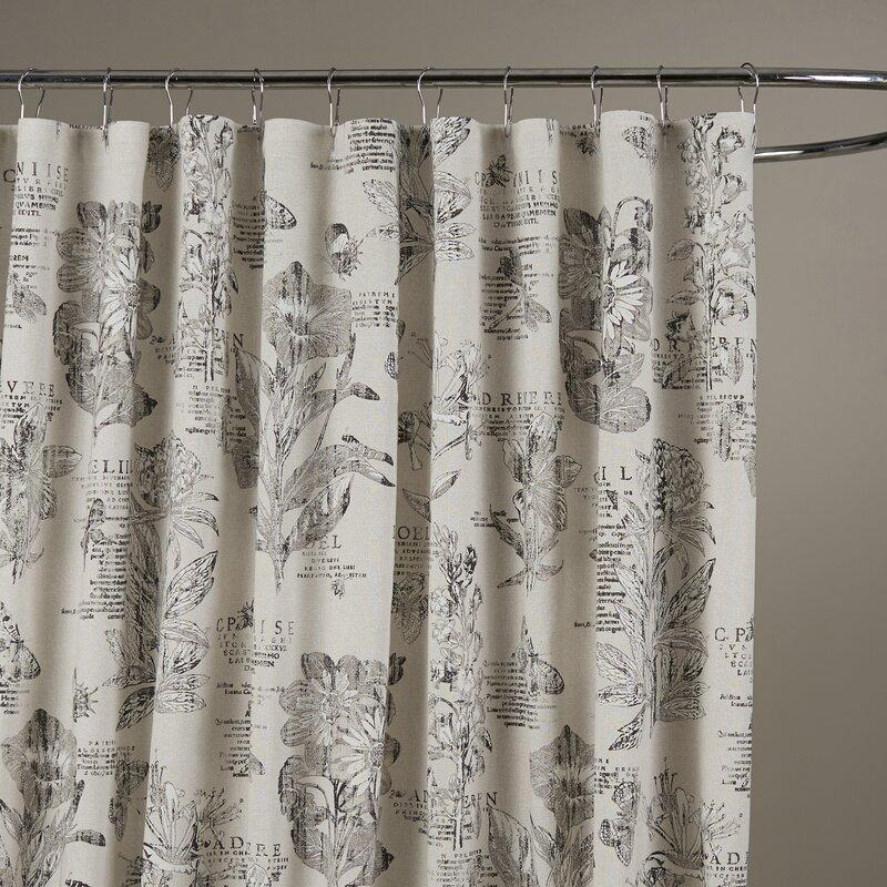 Etching Cotton Shower Curtain