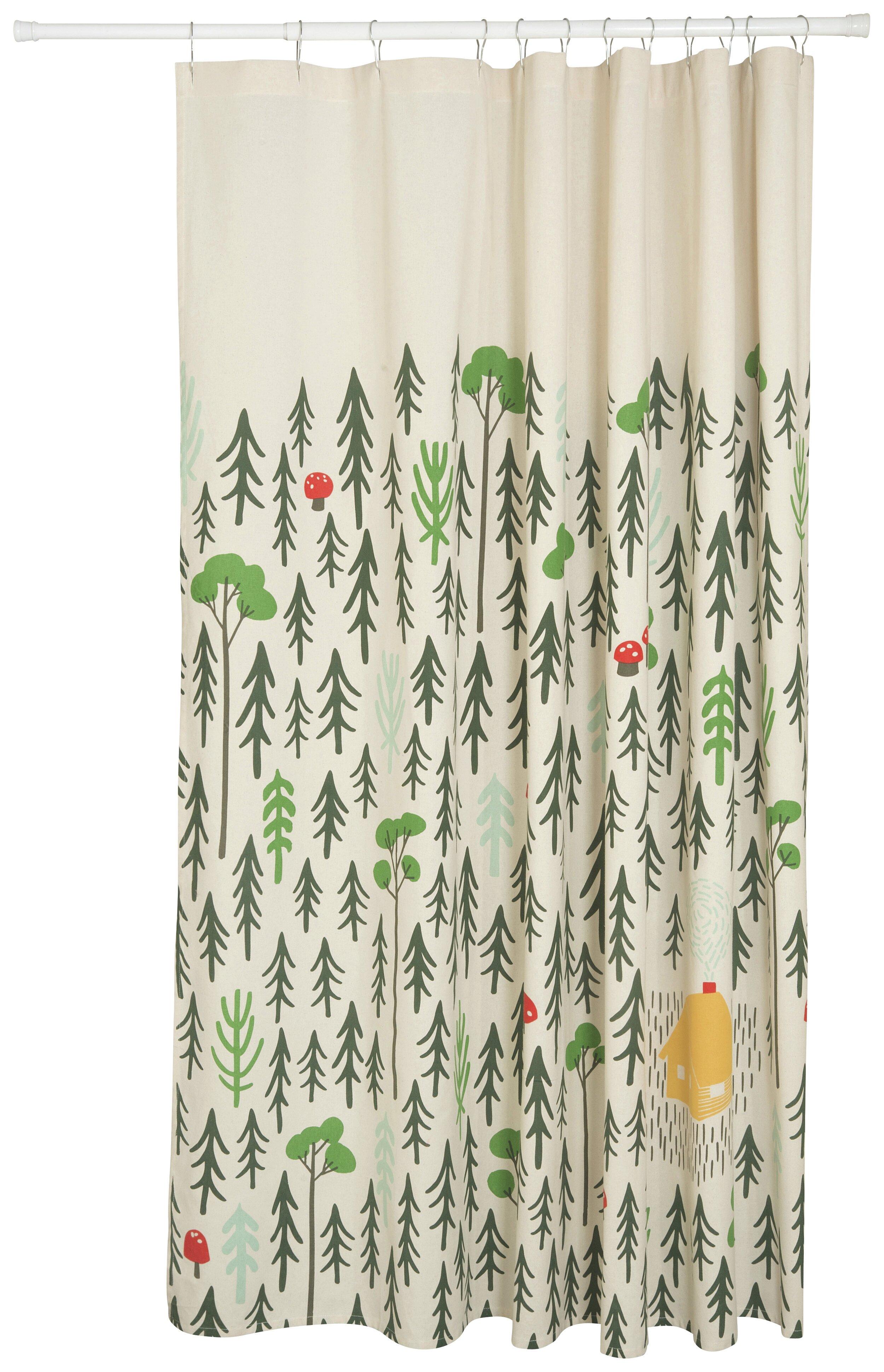 Danica Studio Wayfair Llamarama 100 Cotton Shower Curtain
