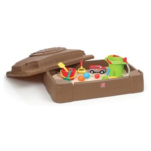 Play and Store 2' Rectangular Sandbox with Cover