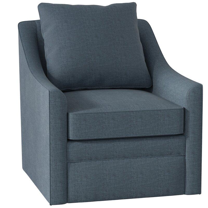Wayfair All Modern: AllModern Custom Upholstery Quincy Swivel Armchair