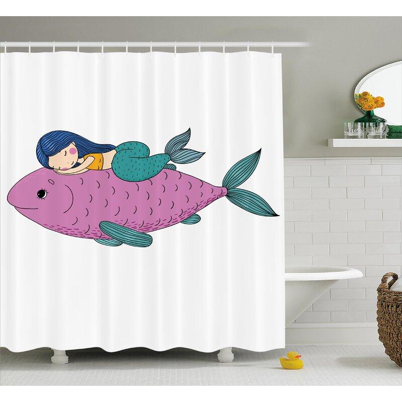 Turner Baby Fish Kids Nursery Shower Curtain