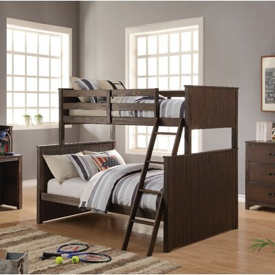 Needham Wooden Twin over Full Bunk Bed Harriet Bee
