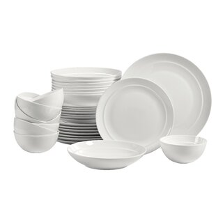 5dd40d3da350 Fazeley 32 Piece Bone China Dinnerware Set, Service for 8