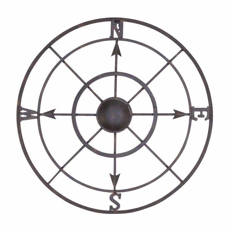 Nautical Metal Compass Rose Wall Décor